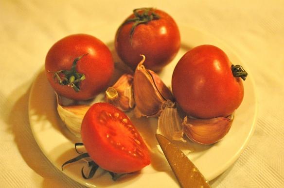 tomato for the bread