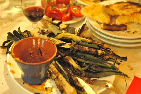 calcots and the sauce