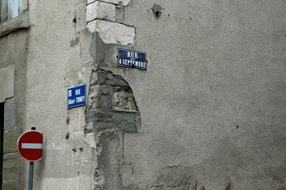 Street signs Carcassonne