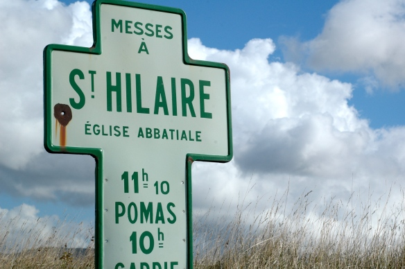 Signs to Saint-Hilaire