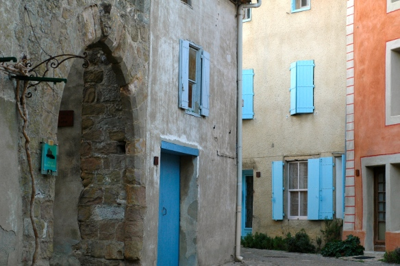 Castle and houses in southern France