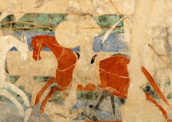 Fresco at the Carcassonne Castle