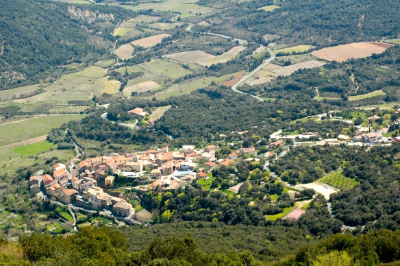 The village of Duilhac Sous Peyrepertuse
