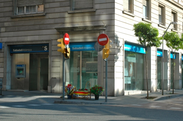 Corner of Muntaner and Reus on Sant Jordi